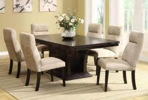 dining room table set dining sets avery 7 pc contemporary dining set table and 6 side chairs he 5448 78 5448s set 4