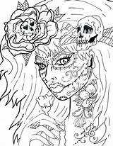 Coloring Dead Pages Skull Sugar Digital Adult Printable Skulls Etsy Getdrawings Cool Animal Drawing Lady Fantasy Depuis Enregistree sketch template