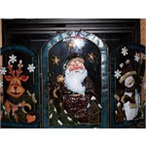 santa fireplace screen winter snowman santa fireplace screen