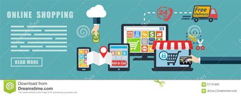 shopping  commerce concept banner background stock illustration image