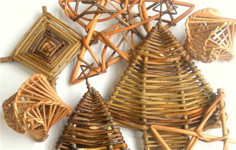 willow angels and other christmas decorations