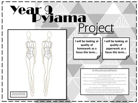 year 9 textiles pyjama porject by adele1818 teaching