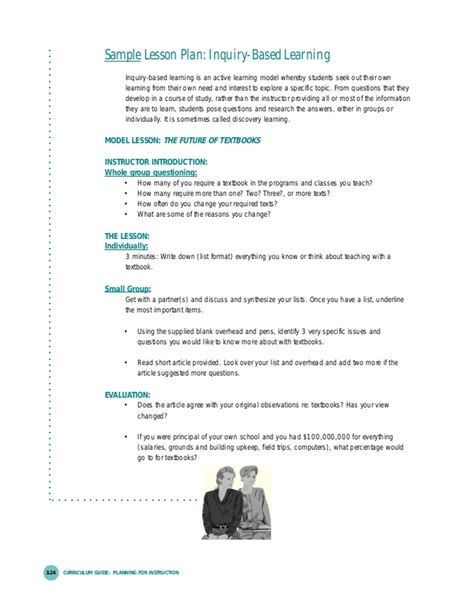 Inquiry Based Learning Lesson Plan Template by Inquiry Based Learning Lesson Plan Template Image