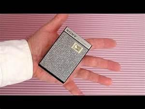 Vintage Sony Pocket Transistor Radio Classic Sheerform