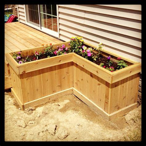deck planter box for the yard garden planter boxes