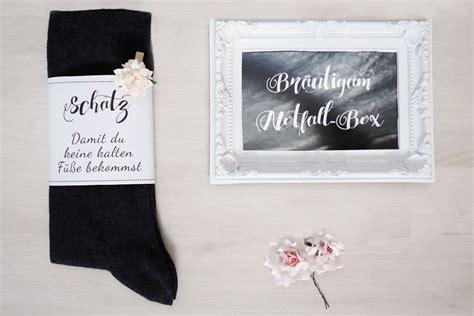 Die SurvivalNotfallBox für den Bräutigam Banderole für