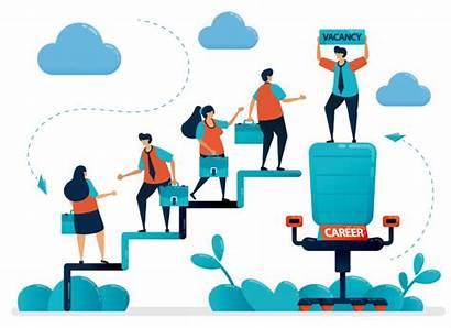 Career Job Opportunities Vector Fair Recruitment Hiring