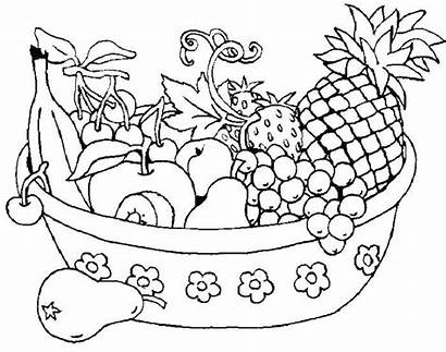 Coloring Fruits Fruit Vegetable Pages