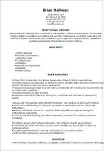 resume format for engineering students ecers assessment form professional entry level mechanic resume templates to showcase your talent myperfectresume