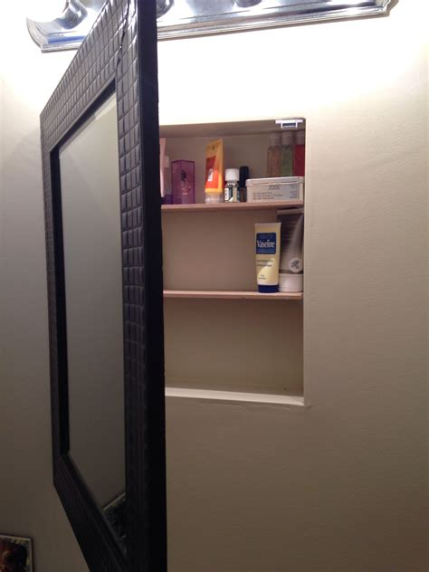 Stand Up Medicine Cabinet by Diy Medicine Cabinet Removed Medicine Cabinet From