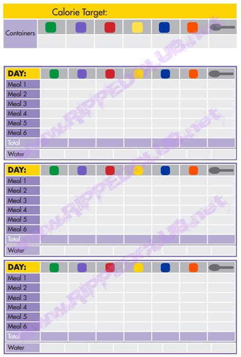 Portion Template by Fix 21 Day Meal Plan Template 21 Day Fix Nutrition Plan