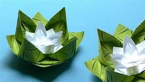Papierblumen Aus Servietten : origami blumen falten 02 seerose ~ Yasmunasinghe.com Haus und Dekorationen