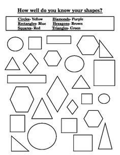 identifying colors worksheet 1000 images about 2d shapes on 2d shape and shape pictures