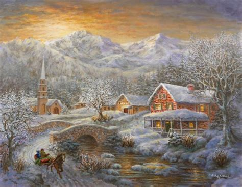 winter merriment fine art print  nicky boehme