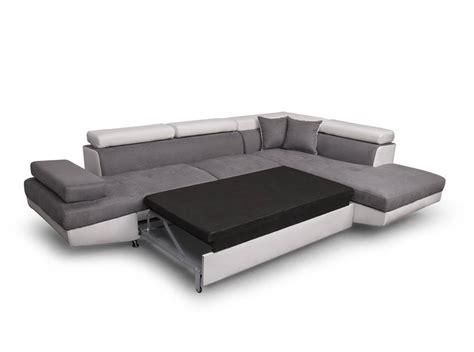 canape droit canapé d 39 angle droit convertible avec coffre blanc gris