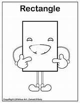 Coloring Shapes Rectangle Preschool Emoji Printable Shape Basic Resources Freepreschoolcoloringpages Square sketch template