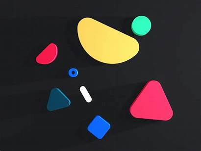 Shapes Messy Dribbble 3d 2d Triangle Circle