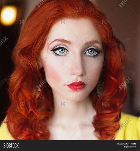 Hair Blue Pale Skin by Hair Yellow Dress Image Photo Bigstock
