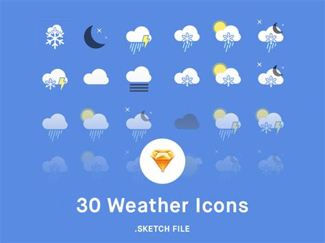 weather icons iphone weather icon pack sketch freebie free resource
