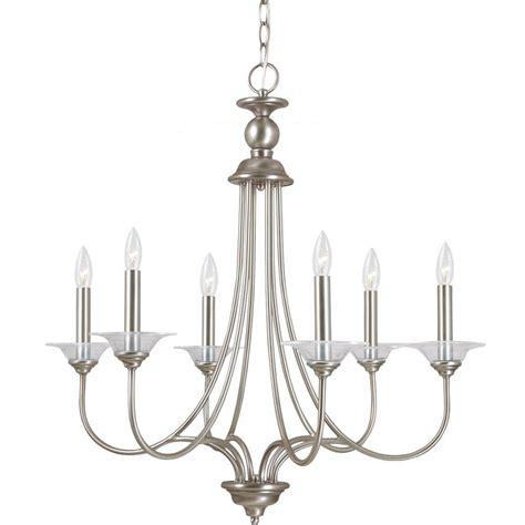 sea gull lighting chandelier sea gull lighting lemont 6 light antique brushed nickel