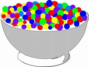 Bowl Of Colorful Cereal Clip Art at Clker.com - vector ...