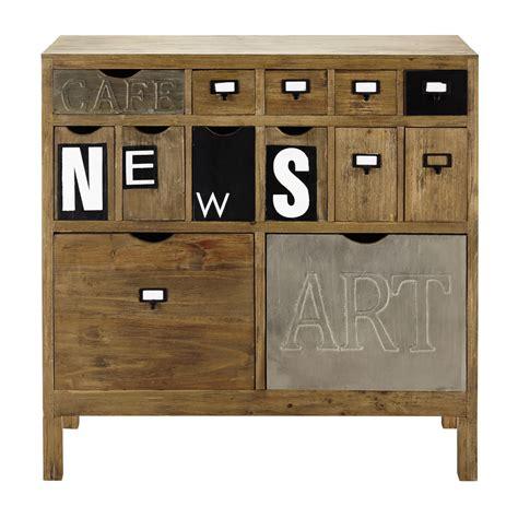wooden storage cabinet w 91cm news maisons du monde