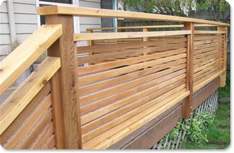 horizontal privacy screen railing railings railings decks and deck railings