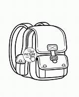 Coloring Backpack Pages Supplies Backpacks Printables Wuppsy Colouring Colored Results sketch template