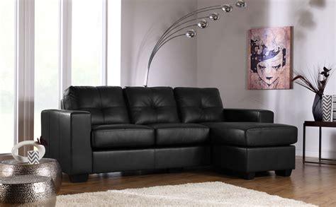 Leather Corner Settees by Black Leather Corner Sofas Settee Unit Ebay