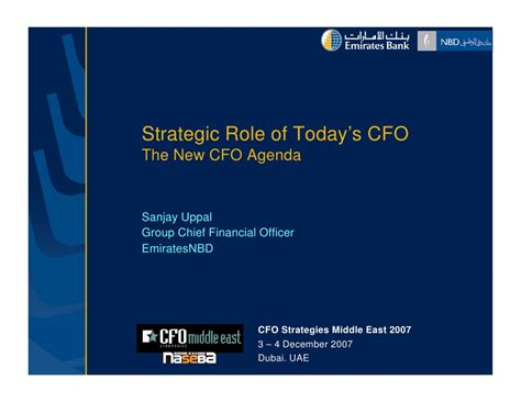 Strategic Role Of Today's Cfo