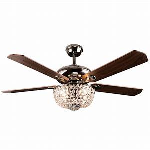 Crystal ceiling fan light fixture : Crystal ceiling fan light rustic sf