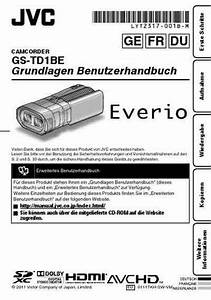 Jvc Everio Gs-td1be Video Camera Download Manual For Free Now