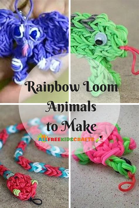 rainbow loom animals   easy rainbow loom charms