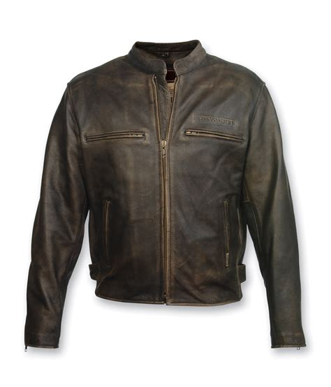 mc leather jacket milwaukee motorcycle clothing co crazy horse brown