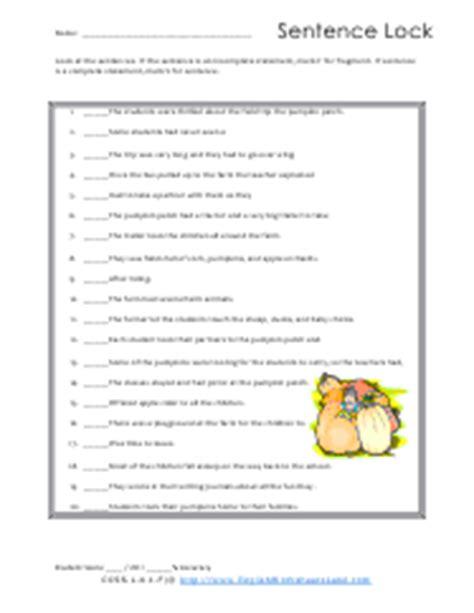 Sentence Fragment Worksheets