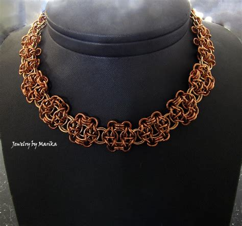 Marika's handcrafted jewellery: Camelot Chain Maille Necklace