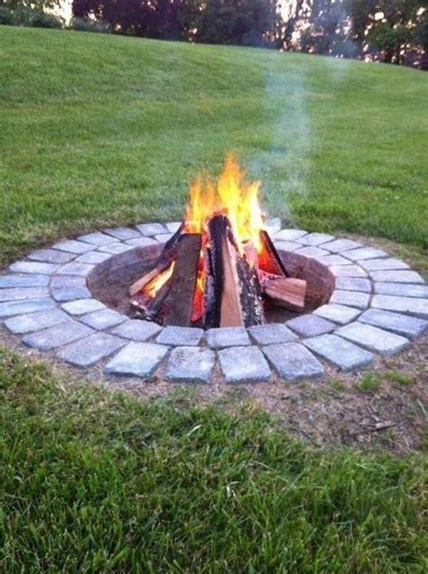 brilliant diy fire pit ideas    backyard