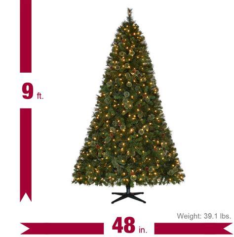 martha stewart living christmas lights martha stewart living 9 ft pre lit led alexander pine