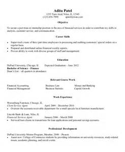 Finance Resume Entry Level Exles by 9 Entry Level Resume Exles Free Premium Templates