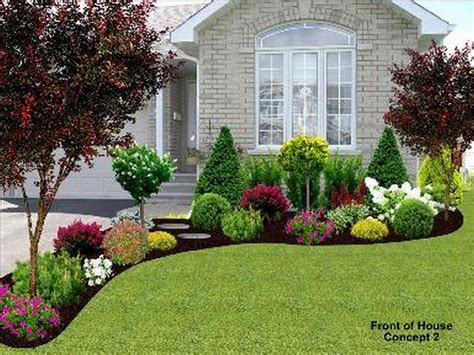 front yard landscape   home project front yard design garden house landscape