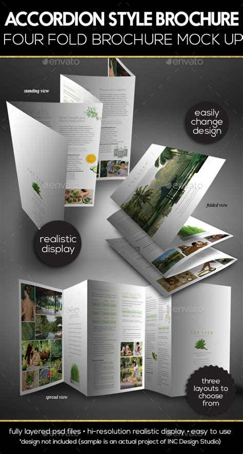 Accordion Style Brochure Accordion Style Brochure Mock Up By Ina717