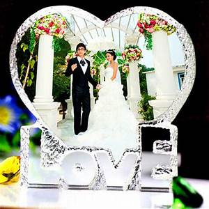 personalized wedding gifts for couple crystal love decoration With gift for wedding couple