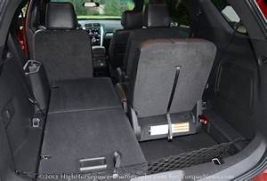 The Rear Cargo Area Of The 2013 Ford Explorer Sport
