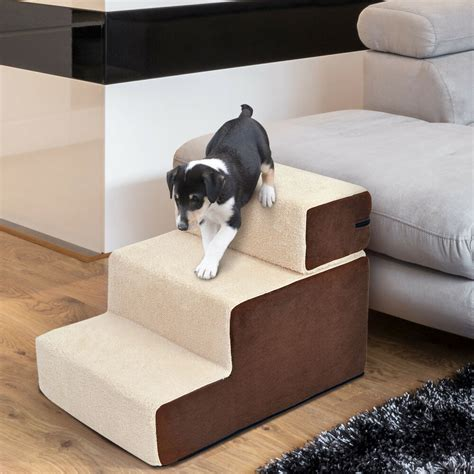dog steps  ladder soft stairs washable soft covered beige