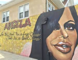 a tribute mural memorializing big ang is unveiled on
