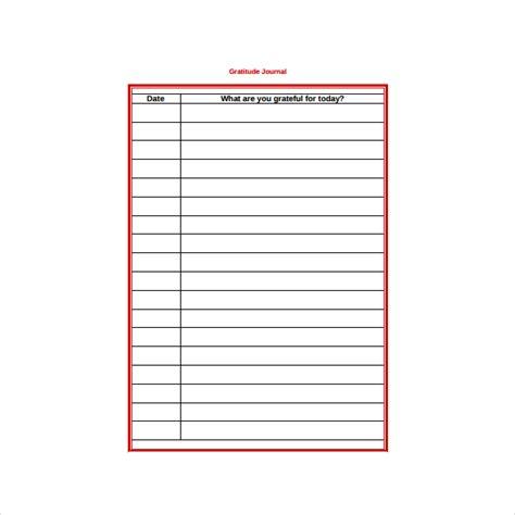 gratitude journal template 3 gratitude journal templates pdf free premium templates