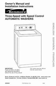 Kenmore Washer Washer User U0026 39 S Guide