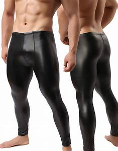 Size Chart Mens In Cm 2020 Wholesale Fashion Mens Black Faux Leather Pants Long