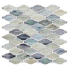twilight  fiji bouquet glass mosaic kitchen backsplash