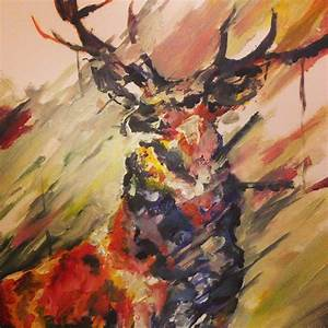 deer painting abstract - Google Search | Painting ...